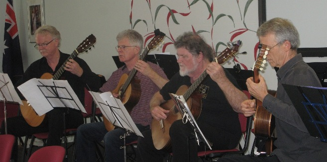 Kirribilli Four performing at Hopetoun Village